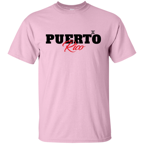 Puerto Rico Black Script 1 Ultra Cotton T-Shirt - PR FLAGS UP