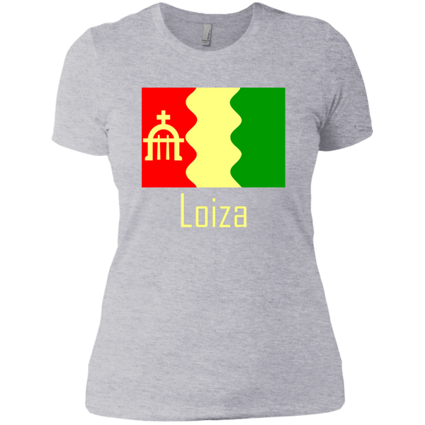 Loiza Flag NL3900 Next Level Ladies' Boyfriend T-Shirt - PR FLAGS UP