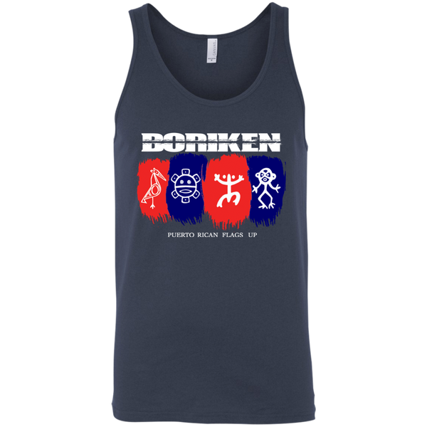 Boriken 3480 Bella + Canvas Unisex Tank - PR FLAGS UP