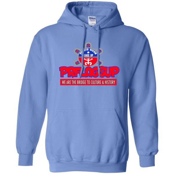 PR Flags Up Pullover Hoodie 8 oz - PR FLAGS UP