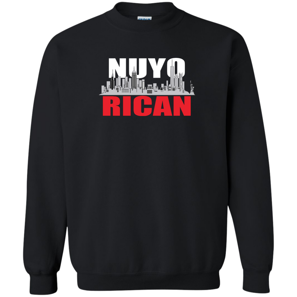 NuyoRican Printed Crewneck Pullover Sweatshirt  8 oz - PR FLAGS UP