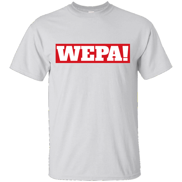 Wepa! Custom Ultra Cotton T-Shirt - PR FLAGS UP