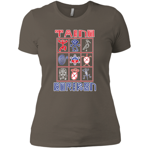 Taino Boriken Next Level Ladies' Boyfriend Tee - PR FLAGS UP