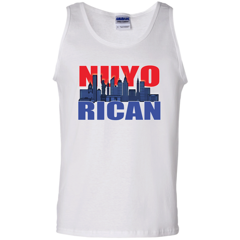 NuyoRican 2 100% Cotton Tank Top - PR FLAGS UP