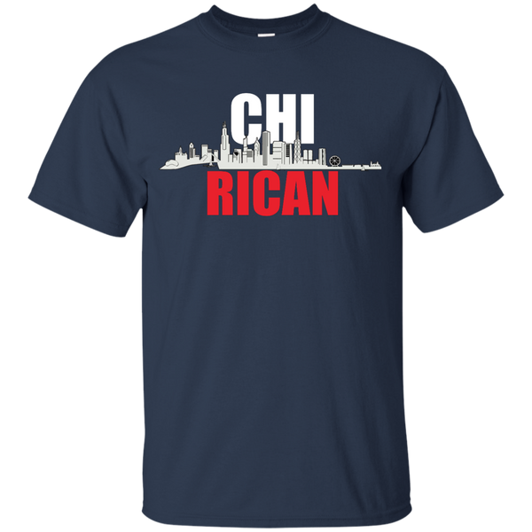 Chi Rican Youth Custom Ultra Cotton Tee - PR FLAGS UP