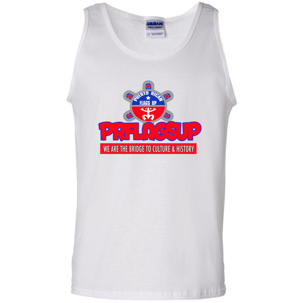 PR Flags Up  100% Cotton Tank Top - PR FLAGS UP