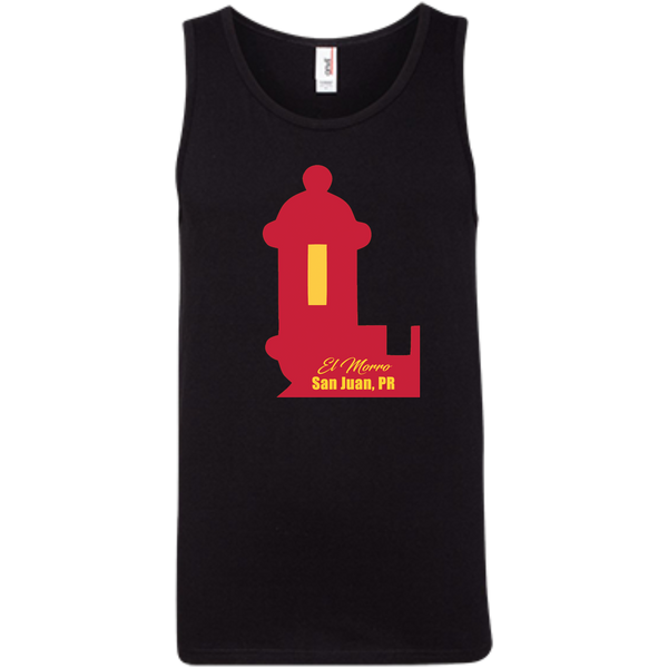 El Morro 100% Ringspun Cotton Tank Top - PR FLAGS UP