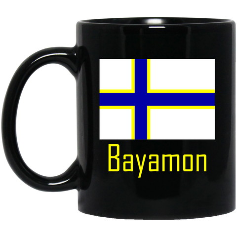 Bayamon Flag BM11OZ 11 oz. Black Mug - PR FLAGS UP