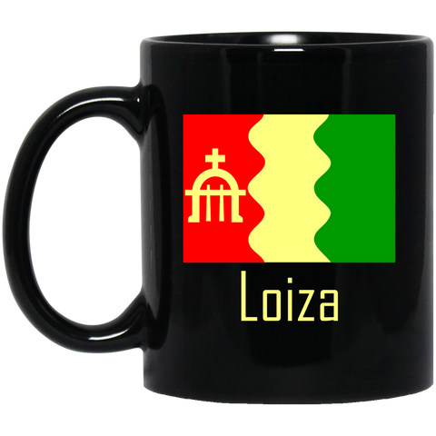 Loiza Flag BM11OZ 11 oz. Black Mug - PR FLAGS UP