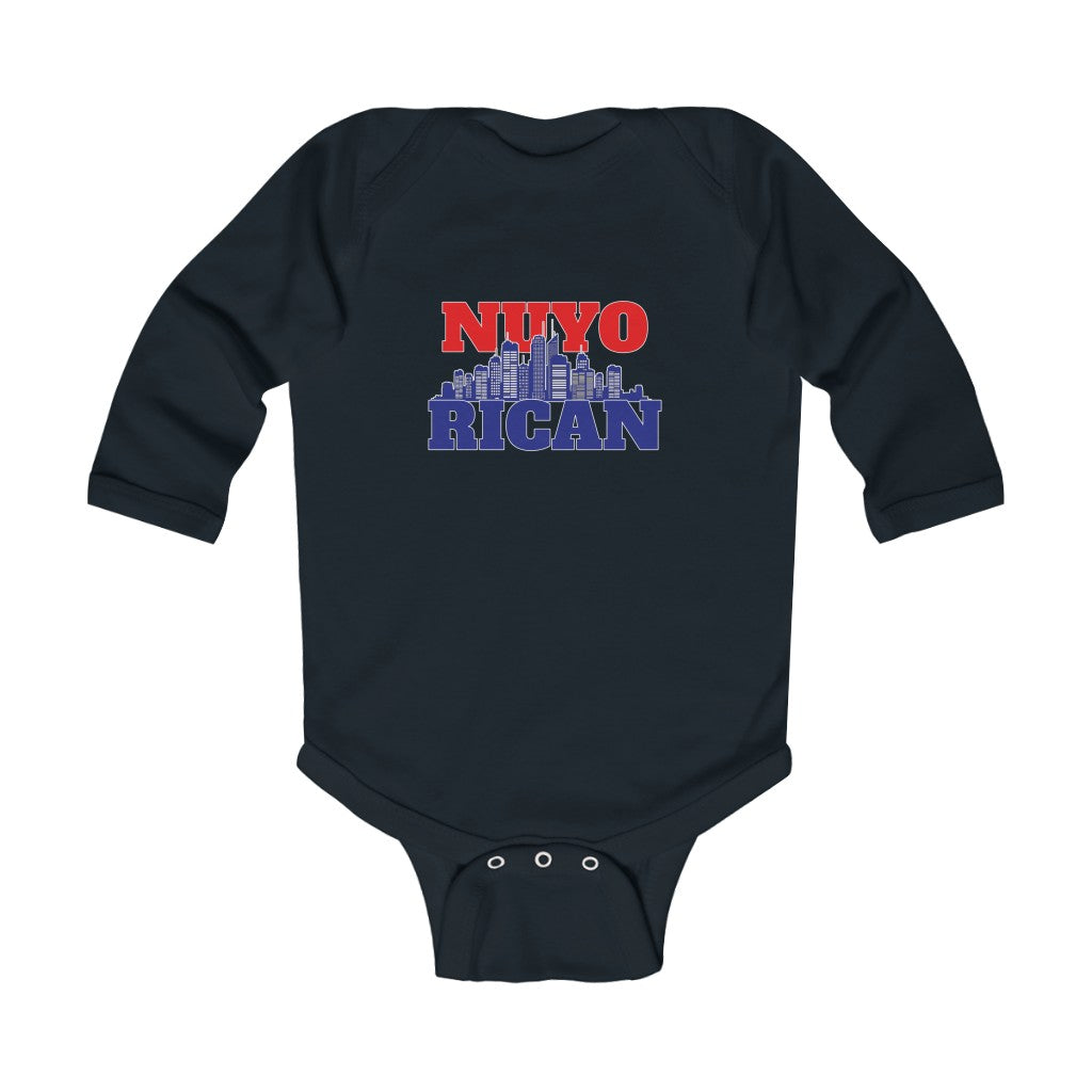 NuyoRican B/R Infant Long Sleeve Bodysuit