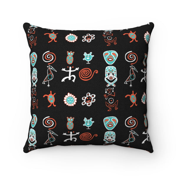 Taino Boriken Spun Polyester Square Pillow