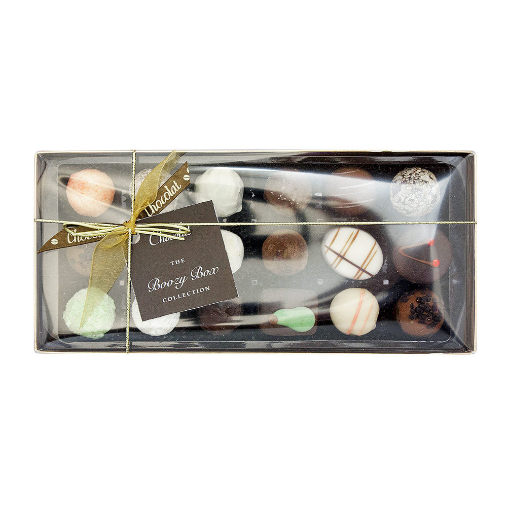 Large Luxury Boozy Chocolate Selection with Lid and Ribbon