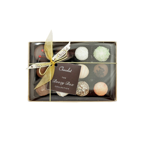 Regular Luxury Boozy Chocolate Selection with Lid and Ribbon