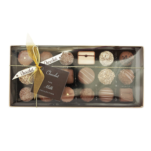 Large Luxury Milk Chocolate Selection with Lid and Ribbon