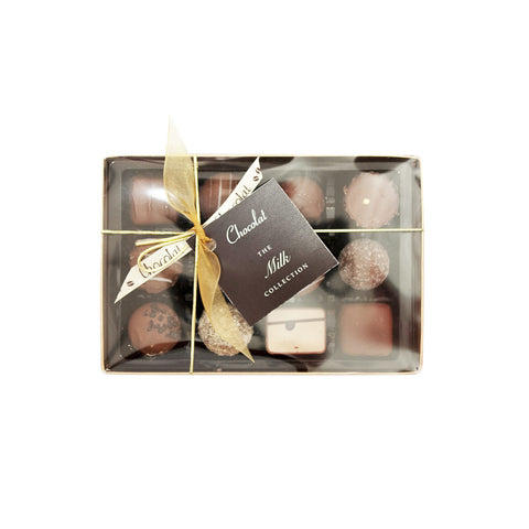 Regular Luxury Milk Chocolate Selection with Lid and Ribbon