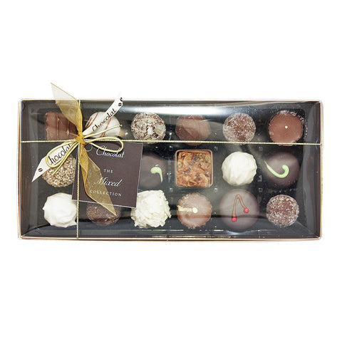 Large Luxury Mixed Chocolate Selection with Lid and Ribbon