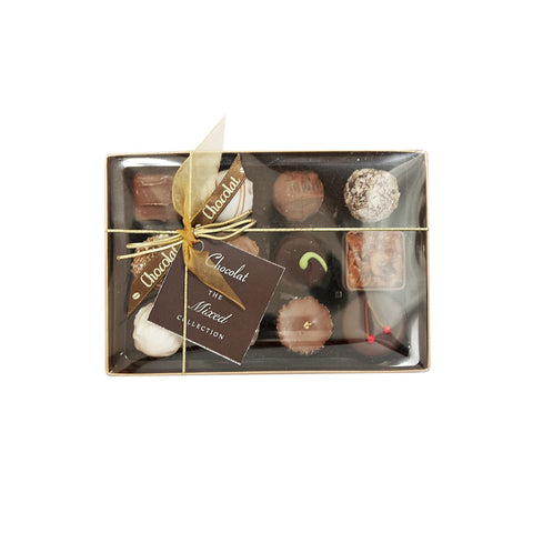 Regular Luxury Mixed Chocolate Selection with Lid and Ribbon