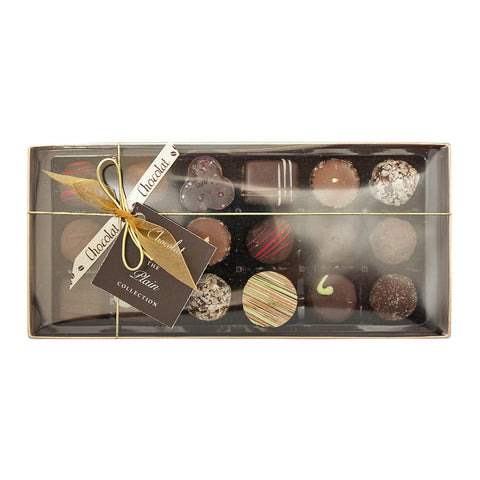 Large Luxury Plain Chocolate Selection with Lid and Ribbon