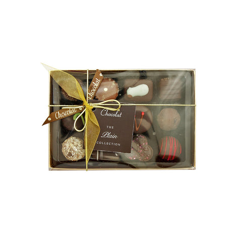 Regular Luxury Plain Chocolate Selection with Lid and Ribbon