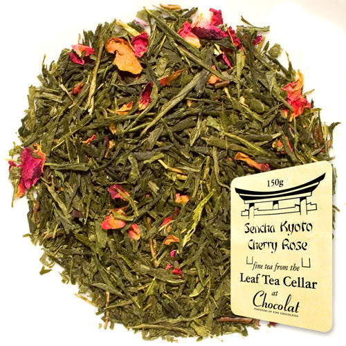 Sencha Kyoto Cherry Rose Loose Leaf Tea