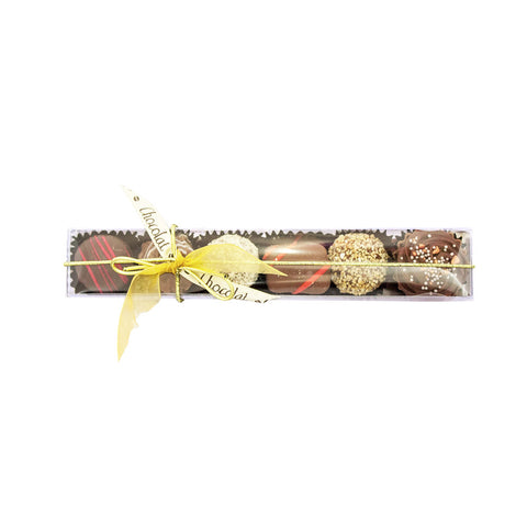 Medium Chocolate Stick Box with Lid and Ribbon