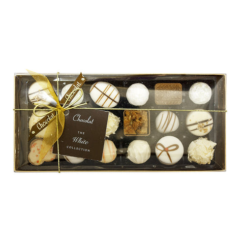 Large Luxury White Chocolate Selection with Lid and Ribbon