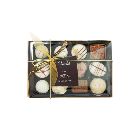 Regular Luxury White Chocolate Selection with Lid and Ribbon