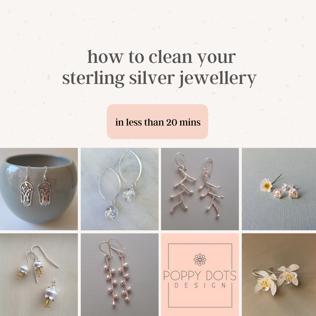 How to clean your sterling silver jewellery in less than 20 minutes