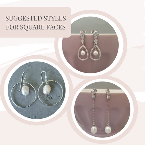 Earrings for square faces
