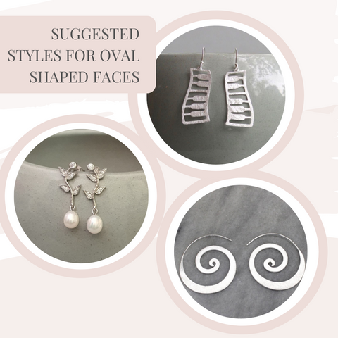 Earrings for oval face shapes