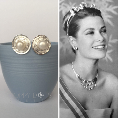 Sterling Silver Cups & Saucer Studs