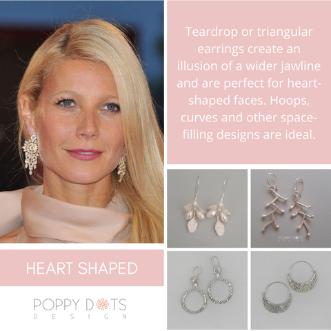 Earrings for heart shaped face