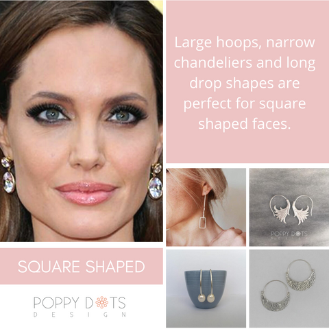 Earrings for square shaped face
