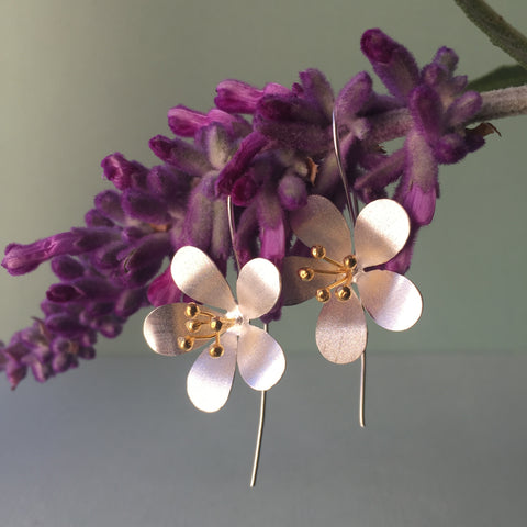Sterling Silver & Gold Oriental Lillies