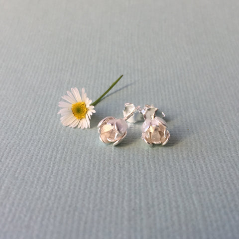 Sterling Silver Petite Tulip Studs