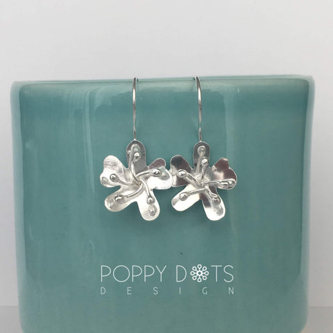 Sterling Silver Buttercup Earrings