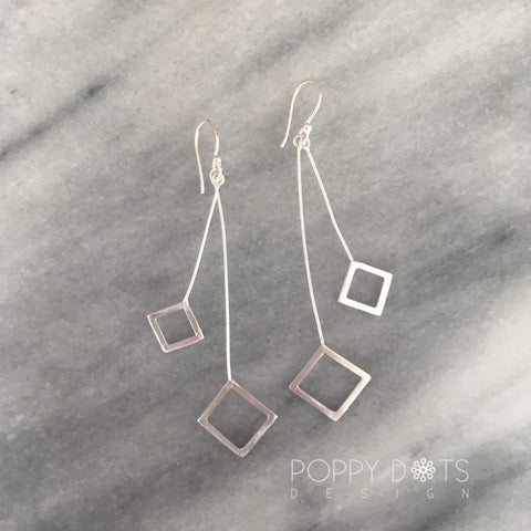Cubisca Sterling Silver Dangling Earrings