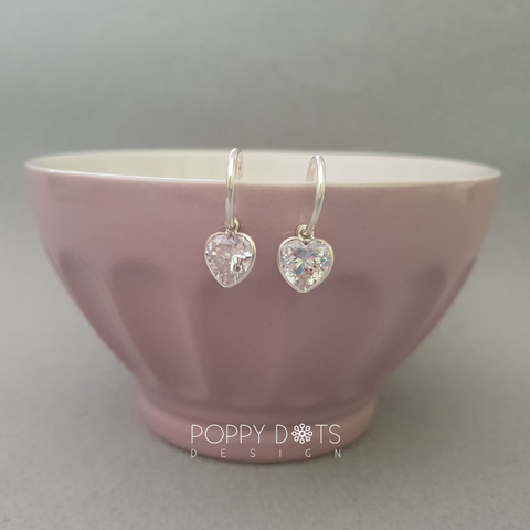 Sterling Silver Pretty Woman Heart Earrings