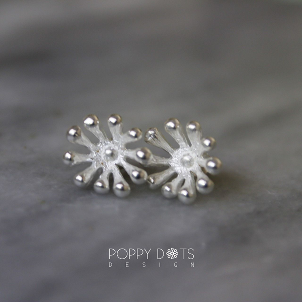 Sterling Silver Pincushion Studs