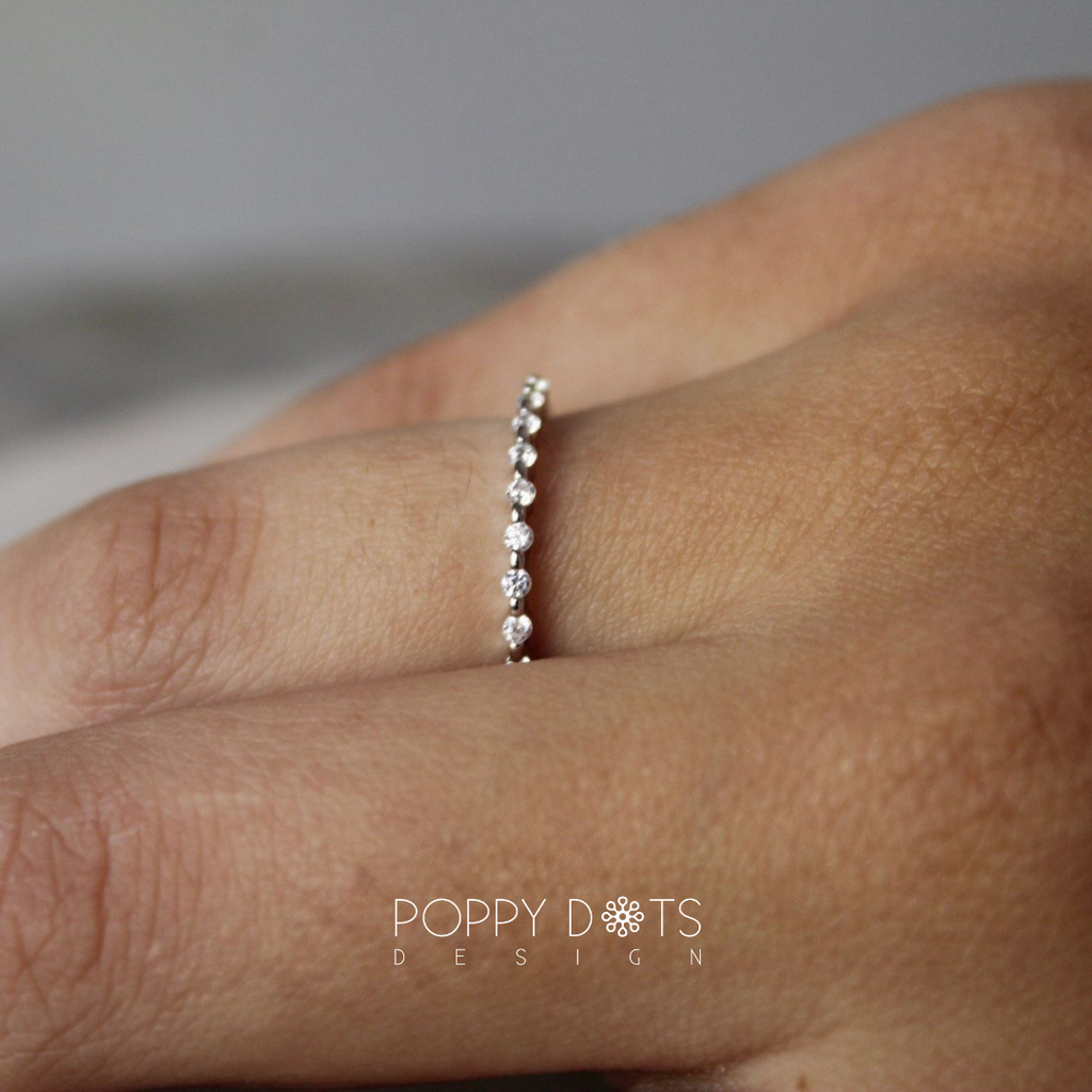 Sterling Silver Micro Pave Zironia Ring