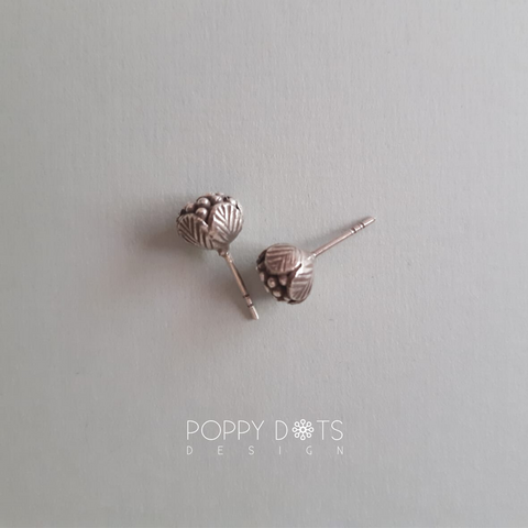 Sterling Silver oxidized Brunia Studs