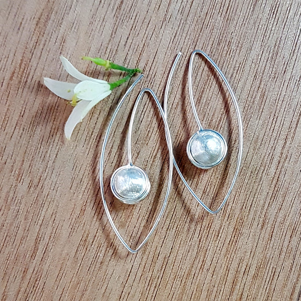 Open Oval Sterling Silver Earrings