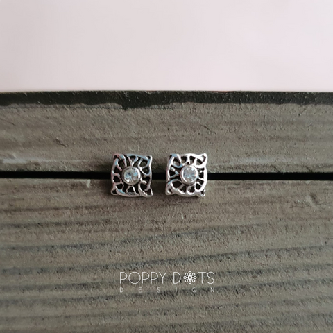 Sterling Silver Ema Studs