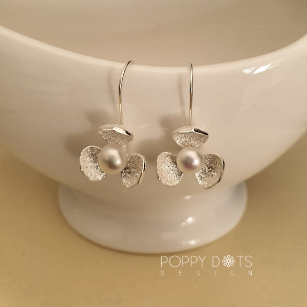 Sterling Silver Fleur Earrings