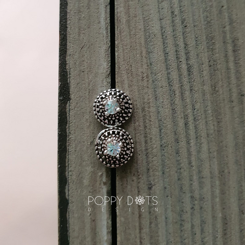 Sterling Silver Oxidised Irene Studs