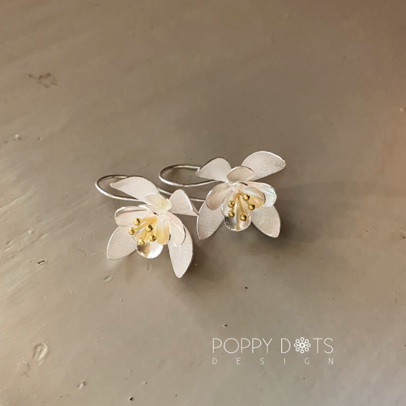 Sterling Silver & Gold Inca Lilies