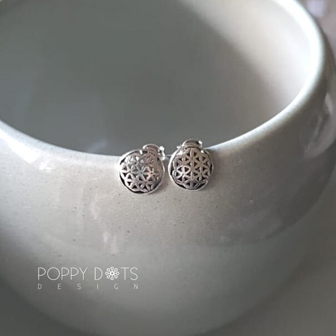 Sterling Silver Filigree Studs