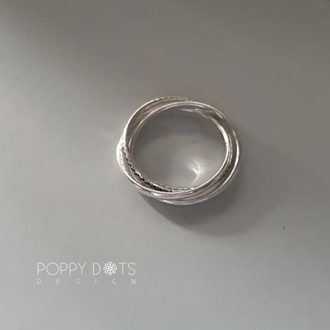 Sterling Silver Trinity Ring