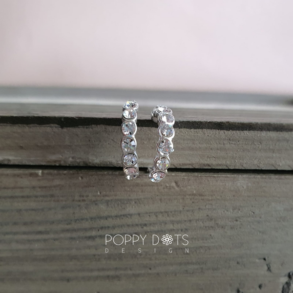 Sterling Silver & Zirconia Alisa Earrings