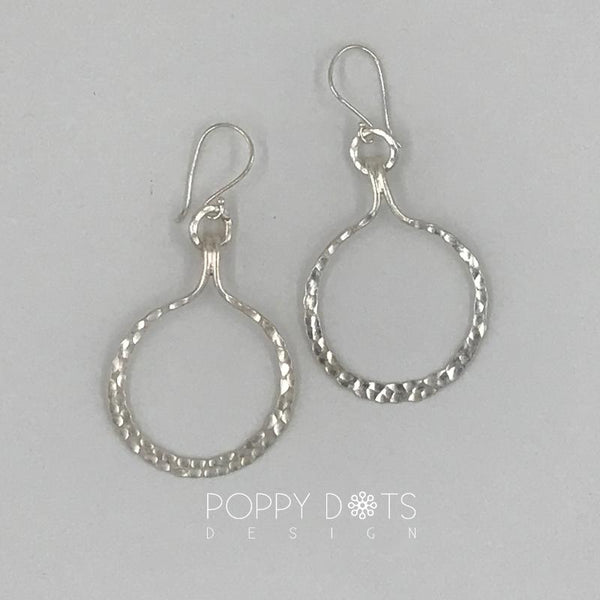 Sterling Silver Chunky Hammered Hoops